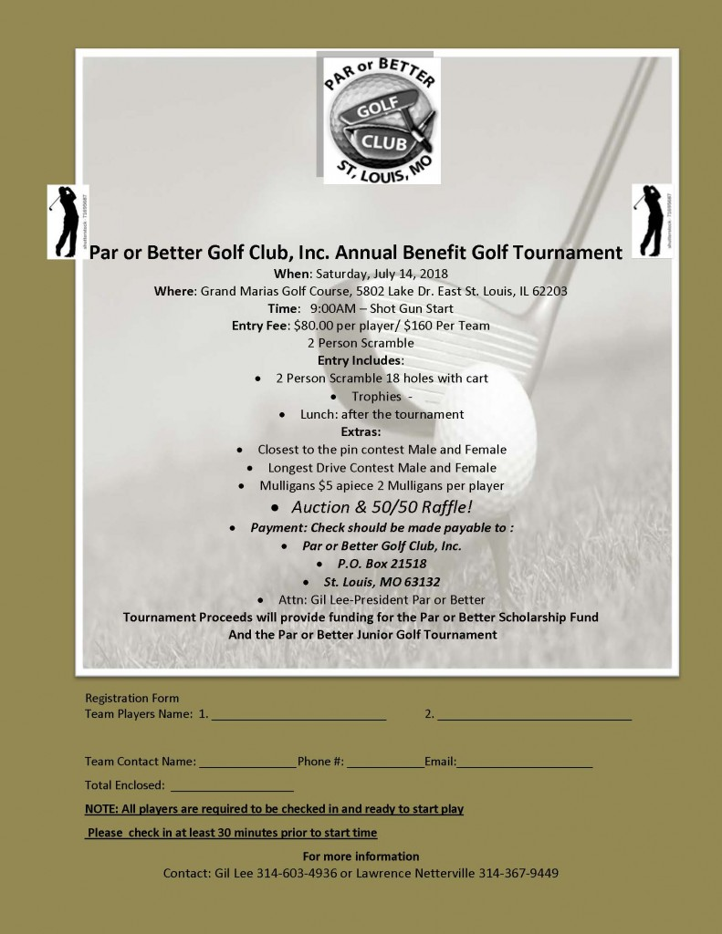 2018 Par or Better Golf Tournament